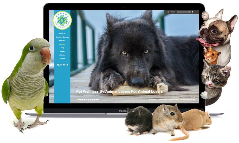 fee creative - Zodiac Pet & Exotic Hospital website design